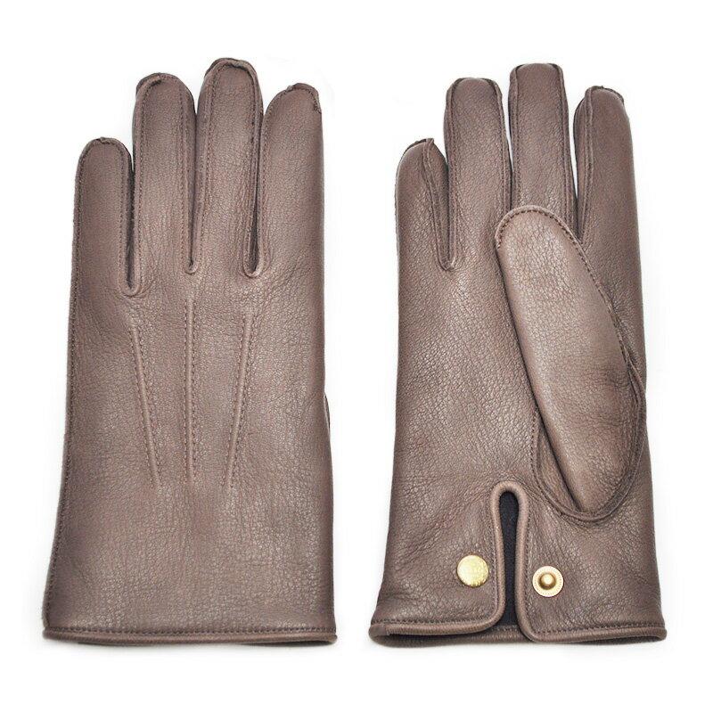 GLAD HAND & Co. GLAD HAND - GLOVE (BROWN) グラッドハンド ディアスキン レザーグローブ【GANGSTERVILLE/ギャングスタービル/WEIRDO/ウィアード/OLD CROW/オールドクロウ】