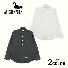 GANGSTERVILLE KINGSLAND - L/S SHIRTS ギャングスタービル ウエスタンシャツ/メンズ/GLADHAND/グラッドハンド/WEIRDO/ウィアード/OLD CROW/オールドクロウ