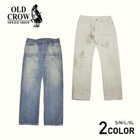 OLD CROW OLD RODDER - DENIM PANTS (VINTAGE FINISH) オールドクロウ ビンテージ加工 デニム パンツ インディゴ アイボリーホワイト/メンズ/GLADHAND/グラッドハンド/GANGSTERVILLE/ギャングスタービル/WEIRDO/ウィアード