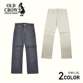 OLD CROW OLD RODDER - DENIM PANTS (RIGID) オールドクロウ リジッド デニム パンツ インディゴ アイボリーホワイト/メンズ/GLADHAND/グラッドハンド/GANGSTERVILLE/ギャングスタービル/WEIRDO/ウィアード