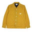 【残りMサイズのみ】ギャングスタービル ドット オープンカラー 長袖シャツ 開襟シャツ メンズ GANGSTERVILLE DIAMOND…
