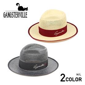 ギャングスタービル パナマハット 麦わら帽子 GANGSTERVILLE MOVSTER - HAT GLADHAND/グラッドハンド/WEIRDO/ウィアード/OLD CROW/オールドクロウ
