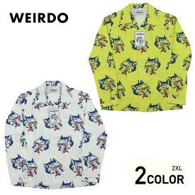 2XL:ウィアード オープンカラー 長袖 開襟 シャツ メンズ WEIRDO WOLF BAIT - L/S SHIRTS GLADHAND グラッドハンド GANGSTERVILLE ギャングスタービル OLD CROW オールドクロウ