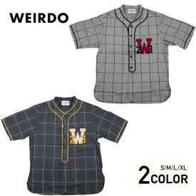 ウィアード 半袖ベースボールシャツ メンズ WEIRDO WEIRDO LEAGUE - S/S SHIRTS GLADHAND グラッドハンド GANGSTERVILLE ギャングスタービル OLD CROW オールドクロウ