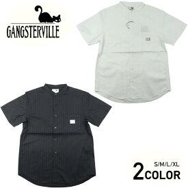 ギャングスタービル スタンドカラーシャツ 半袖 メンズ GANGSTERVILLE SOCIAL LOUNGE - S/S SHIRTS GLADHAND グラッドハンド WEIRDO ウィアード OLD CROW オールドクロウ