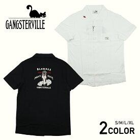 ギャングスタービル 半袖オープンカラーシャツ メンズ 開襟シャツ GANGSTERVILLE GANGSTERVILLE BLONDES - S/S SHIRTS /グラッドハンド/GANGSTERVILLE/ギャングスタービル/OLD CROW/オールドクロウ