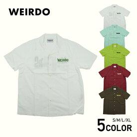 ウィアード 半袖オープンカラーシャツ 開襟シャツ メンズ WEIRDO MONSTERS - S/S SHIRTS GLADHAND/グラッドハンド/GANGSTERVILLE/ギャングスタービル/OLD CROW/オールドクロウ