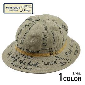 """【残りLサイズのみ】ノースノーネーム ハンドペイント リネン ハット/アーミーハット NORTH NO NAME """"MESSAGE"""" LINEN HAT"""