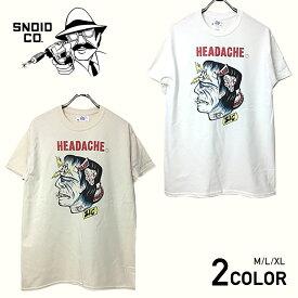 ※ネコポス対応(250円)※ スノイド 半袖 Tシャツ メンズ SNOID HEADACHE S/S T-SHIRTS