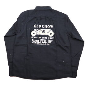 セール 40% OFF SALE 残りLサイズのみ オールドクロウ 長袖ワークシャツ メンズ OLD CROW GOLD CUP - WORK L/S SHIRTS GLADHAND/グラッドハンド/GANGSTERVILLE/ギャングスタービル/WEIRDO/ウィアード