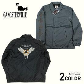 ギャングスタービル コーチジャケット メンズ ナイロンジャケット GANGSTERVILLE LOVE TO RIDE - COACHES JACKET GLADHAND/グラッドハンド/WEIRDO/ウィアード/OLD CROW/オールドクロウ