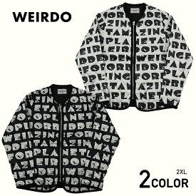 2XL:ウィアード キルティングジャケット メンズ WEIRDO WEIRDO PLANET - JACKET GLADHAND グラッドハンド GANGSTERVILLE ギャングスタービル OLD CROW オールドクロウ