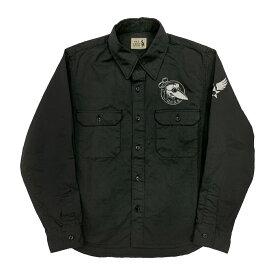 セール 40% OFF SALE 残りSサイズのみ オールドクロウ ワークシャツ 長袖 メンズ OLD CROW CROW OFFICERS - L/S SHIRTS GLADHAND グラッドハンド GANGSTERVILLE ギャングスタービル WEIRDO ウィアード