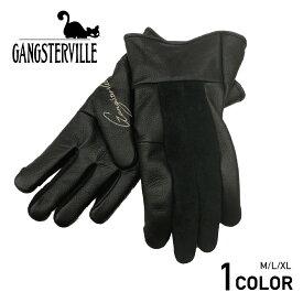 ギャングスタービル レザーグローブ GANGSTERVILLE THUG RIDE - GLOVE GLADHAND/グラッドハンド/WEIRDO/ウィアード/OLD CROW/オールドクロウ
