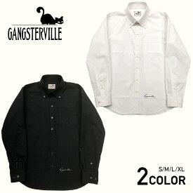 ギャングスタービル ボタンダウンシャツ 長袖 メンズ GANGSTERVILLE SMUGGLER - L/S SHIRTS GLADHAND グラッドハンド WEIRDO ウィアード OLD CROW オールドクロウ