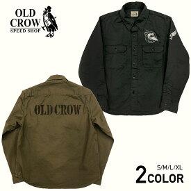 オールドクロウ ワークシャツ 長袖 メンズ OLD CROW CROW OFFICERS - L/S SHIRTS GLADHAND グラッドハンド GANGSTERVILLE ギャングスタービル WEIRDO ウィアード