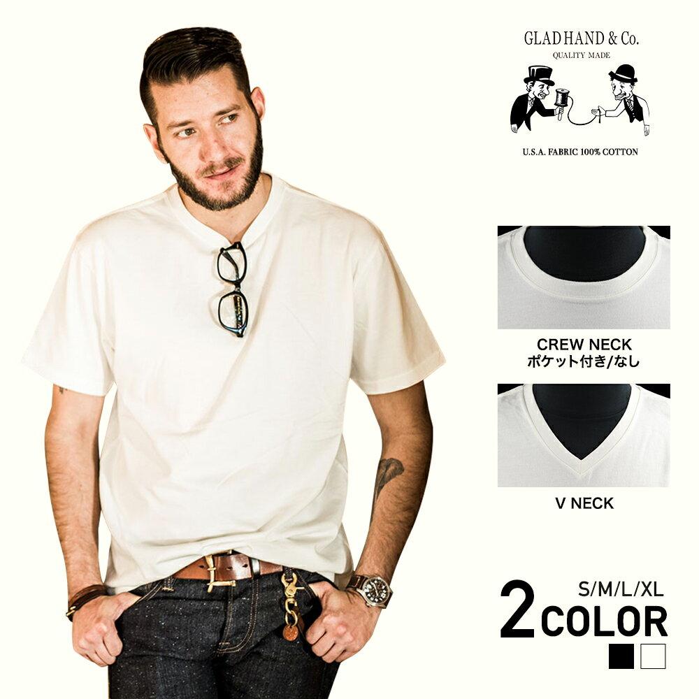 グラッドハンド クルーネック Vネック ポケット 半袖 Tシャツ/パックTシャツ/無地/USAコットン/メンズ/GLAD HAND-01,06,20 STANDARD CREW NECK V NECK POCKET S/S T-SHIRTS/PACK-T/GANGSTERVILLE/ギャングスタービル/WEIRDO/ウィアード