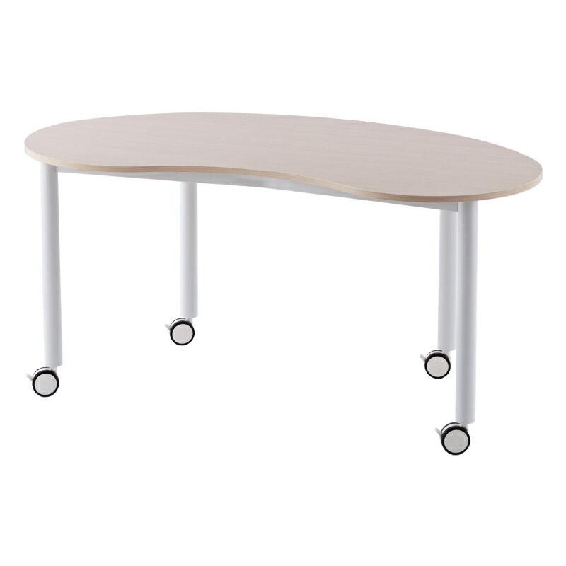 キャスターテーブル 豆型 / ナチュラル RFCTT-WL1476BNNA【送料無料】  アールエフヤマカワ RFyamakawa ミーティングテーブル 豆型天板 ワークテーブル オフィスデスク 会議用テーブル 会議机