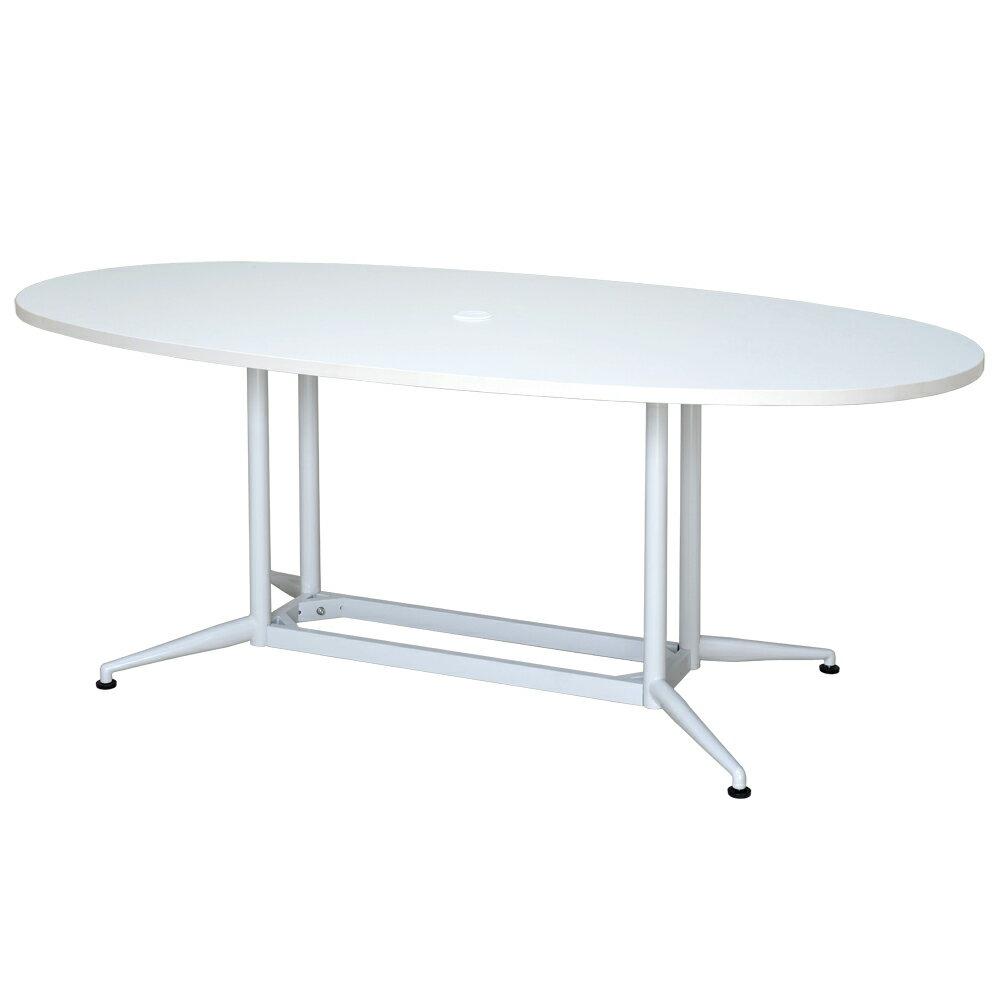 OAオーバルテーブル W1800xD900 ホワイト RFOVT-OA1890WH【送料無料】  アールエフヤマカワ RFyamakawa 会議テーブル 会議用テーブル 楕円