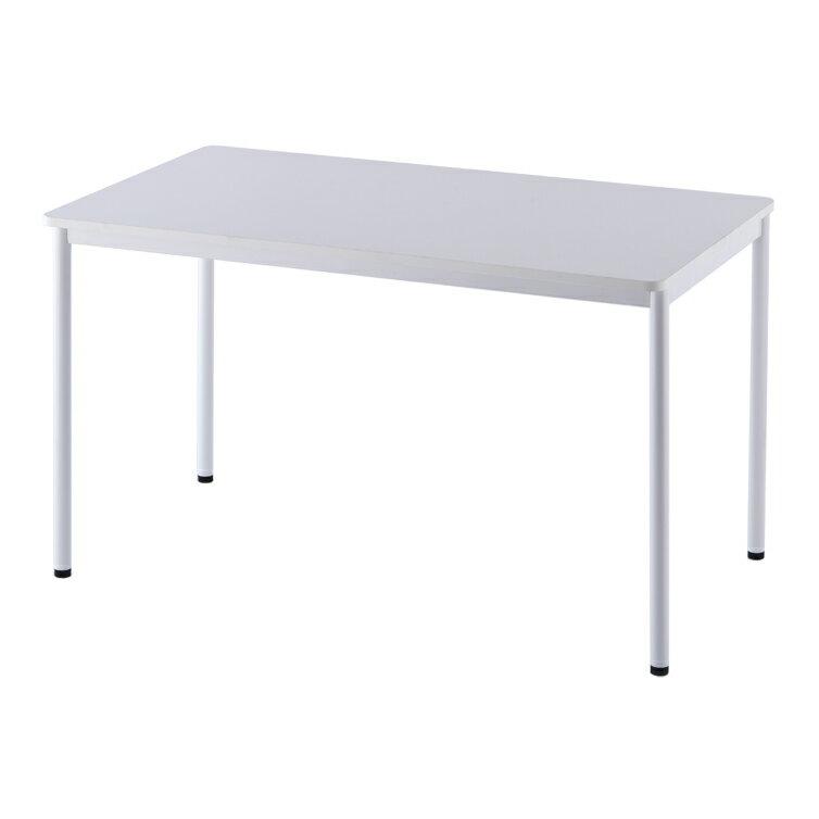 ラディーRFシンプルテーブル W1200xD700 ホワイト RFSPT-1270WH【送料無料】 アールエフヤマカワ RFyamakawa オフィスデスク 事務机 多目的 会議テーブル ミーティングテーブル 教育施設 塾 医療施設