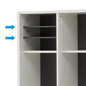 【在庫限り】プリーマ 木製格子型シェルフ用オプション棚板(2枚入)グレー Z-SHWKAB-GY アールエフヤマカワ RFyamakawa 本棚 書棚 扉付き棚 書庫 キャビネット