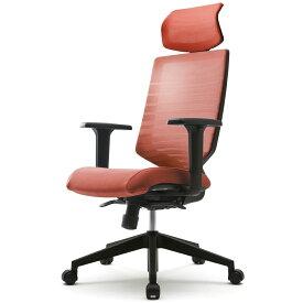 [FURSYS]T30チェア 可動肘 ヘッドレスト付き オレンジ FHTN302RF020   アールエフヤマカワ RFyamakawa オフィスチェア 多機能 ワークチェア アーム キャスター付