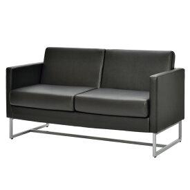 ループ脚ソファ 2人掛け ブラック GZLPSF-2BK アールエフヤマカワ RFyamakawa オフィス 会議室 商談 応接用 2人用 二人掛け 2人掛け sofa