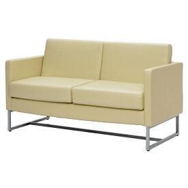 ループ脚ソファ 2人掛け ホワイト GZLPSF-2WH アールエフヤマカワ RFyamakawa オフィス 会議室 商談 応接用 2人用 二人掛け 2人掛け sofa