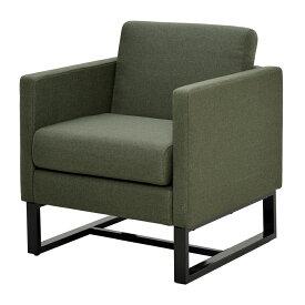 スクエアソファ ファブリック 1人掛け グリーン GZSSF-F1PGN アールエフヤマカワ RFyamakawa オフィス 会議室 商談 応接用 1人用 sofa