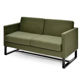 スクエアソファ ファブリック 2人掛け グリーン GZSSF-F2PGN アールエフヤマカワ RFyamakawa オフィス 会議室 商談 応接用 2人用 sofa