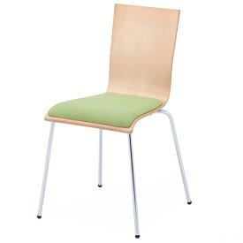 プライウッドチェア パッド付 グリーン(1脚入)RFC-FPGN アールエフヤマカワ RFyamakawa 椅子 会議用椅子 会議椅子 イス ミーティングチェア カフェチェア ダイニングチェア ワークチェア スタッキングチェア スタックチェア
