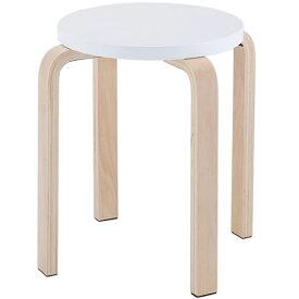 木製丸椅子 ホワイト (1脚入) Z-SHSC-1WH アールエフヤマカワ RFyamakawa スタッキングスツール スタックチェア いす 丸椅子 丸イス ラウンドチェア 待合室 待合スペース 休憩室 作業椅子 待合椅子 待合イス