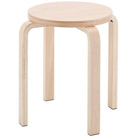 木製丸椅子 ナチュラル (1脚入) Z-SHSC-1 アールエフヤマカワ RFyamakawa スタッキングスツール スタックチェア いす 丸椅子 丸イス ラウンドチェア 待合室 待合スペース 休憩室 作業椅子 待合椅子 待合イス