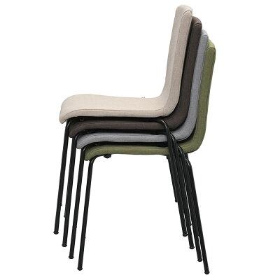 ファブリックチェアII ベージュ ブラック脚 RFC-FPBE2BF 椅子 会議用椅子 会議椅子 イス ミーティングチェア カフェチェア ダイニングチェア ワークチェア スタッキング