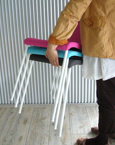ファブリックチェア ピンク(4脚入)RFC-FPPKWF-4SET 椅子 会議用椅子 会議椅子 イス ミーティングチェア カフェチェア ダイニングチェア ワークチェア スタッキングチェア スタックチェア