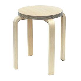 [在庫限り]ペーパーウッドスツール / ブルー(1脚) RFSCPW-1BL  アールエフヤマカワ RFyamakawa 丸椅子 色紙 積層合板 ラウンドスツール ナチュラル