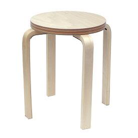 [在庫限り]ペーパーウッドスツール / レインボー(1脚) RFSCPW-1RB  アールエフヤマカワ RFyamakawa 丸椅子 色紙 積層合板 ラウンドスツール ナチュラル