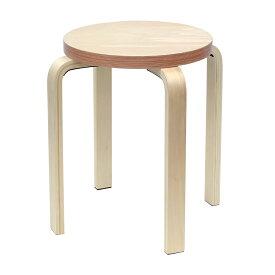 [在庫限り]ペーパーウッドスツール / レッド(1脚) RFSCPW-1RD  アールエフヤマカワ RFyamakawa 丸椅子 色紙 積層合板 ラウンドスツール ナチュラル