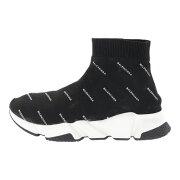 超美品・バレンシアガ Fabric Sneaker Rubber・スニーカー靴 スピードトレーナー #41/506336/41/ブラック/ホワイト/BALENCIAGA【♂】【A】【メンズ】/b191015■313412【中古】