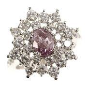 【新品】Fancy Pink Purple ピンクダイヤモンドリング・指輪/K18WG/750-6.5g/1.01ct/FD:1.75ct/GIA/11号/#51/ホワイトゴールド【♀】【N】【レディース】/i32191130■318860