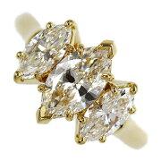 ハリー・ウィンストン Three Stone Ring AN IMPRESSIVE ダイヤモンドリング K18/750-6.4g/1.01ct/FD:1.54ct/GIA10号/#50/HARRY WINSTON【♀】【N】【レディース】/h210412★■387854【中古】