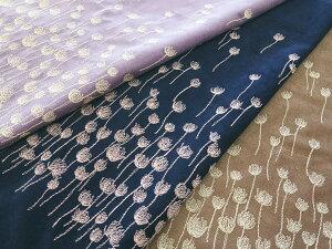【レース生地 刺繍 生地 布】シャツコール・花柄片ボーダーレース(RG-28656)