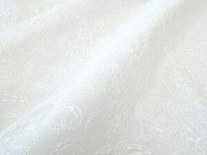【レース生地 刺繍 生地 布】綿60ローン・レース ペイズリー(RG-27455)
