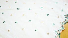 【レース生地 刺繍 生地 布】綿麻キャンブリック・全面スポットレース(RG-24441)