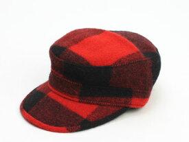 """【 ニューヨークハット ワークキャップ バッファロープレイドチェック ブラック×レッド】 NEW YORK HAT """"PRIVATE"""" #9416"""