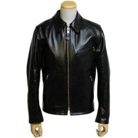 【2020年秋納期分 予約受付】【 ショット 689H ホースハイド シングルライダース ブラック】 Schott 689H Men's Classic Racer Motorcycle Jacket Horsehide Black