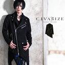 """【送料無料】【2020S/S新作】""""CIVARIZE【シヴァーライズ】Hater レーヨンアシメライダースジャケット/全1色""""【返品・…"""