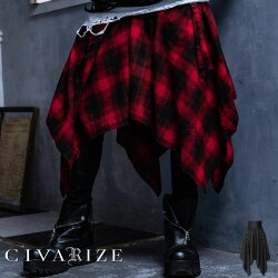 """【2020S/S新作】""""CIVARIZE【シヴァーライズ】Acuateシャーリング変形デザインスカート/全2色""""【返品・交換対象商品】【あす楽対応】【goods】スカートヴィジュアル系ビジュアル系V系メンズファッションレディースモード系ボトムス"""