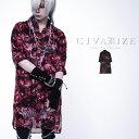"""【2021S/S新作】""""CIVARIZE【シヴァーライズ】シースルーフラワーロングシャツ/全2色""""【返品・交換対象商品】【あす楽…"""