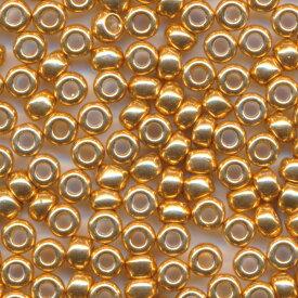 MIYUKI 丸大 シードビーズ 8/0 約3.0mm #182 ゴールド(外銀メッキ着色) 20グラムバラ 約780粒入り ミユキビーズ